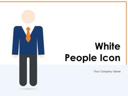 White People Icon Business Schedules Illustrating Publicity Workforce Management