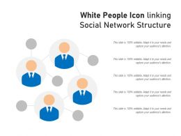 White People Icon Linking Social Network Structure