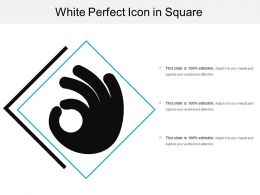 White Perfect Icon In Square
