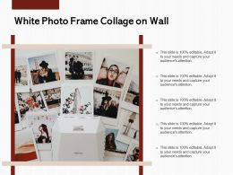 White Photo Frame Collage On Wall