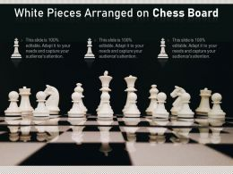 White Pieces Arranged On Chess Board