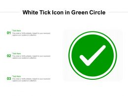 White Tick Icon In Green Circle