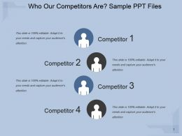 Who Our Competitors Are Sample Ppt Files