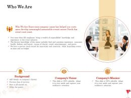 Who We Are Background Ppt Powerpoint Presentation Icon Styles