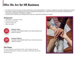 Who We Are For HR Business Ppt Powerpoint Presentation Slides Shapes