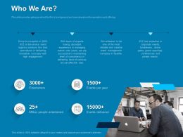 Who We Are High Engagement Ppt Powerpoint Presentation Icons