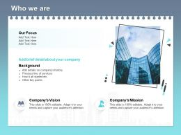 Who We Are L1774 Ppt Powerpoint Presentation Icon Templates