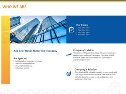 Who We Are Ppt Powerpoint Presentation Example 2015
