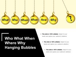 Who What When Where Why Hanging Bubbles