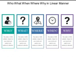 Who What When Where Why In Linear Manner