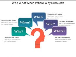 Who What When Where Why Silhouette