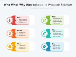 Who What Why How Related To Problem Solution