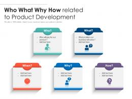 Who What Why How Related To Product Development