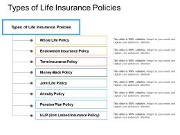 Whole Types Of Life Insurance Policies