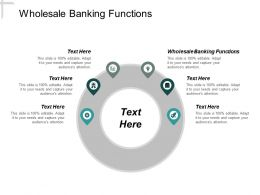 Wholesale Banking Functions Ppt Powerpoint Presentation Slides Visual Aids Cpb