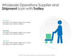 Wholesale Operations Supplier And Shipment Icon With Trolley