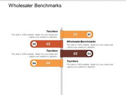 Wholesaler Benchmarks Ppt Powerpoint Presentation Ideas Topics Cpb