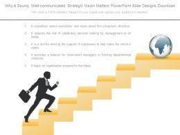 Why A Sound Well Communicated Strategic Vision Matters Powerpoint Slide Designs Download