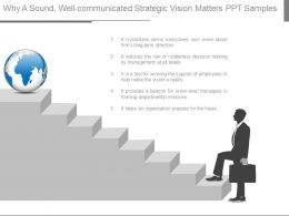 Why A Sound Well Communicated Strategic Vision Matters Ppt Samples
