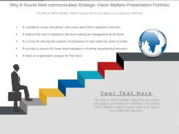 Why A Sound Well Communicated Strategic Vision Matters Presentation Portfolio