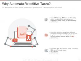 Why Automate Repetitive Tasks Robotic Process Automation It Ppt Powerpoint Presentation Ideas