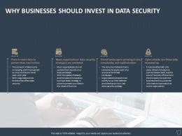 Why Businesses Should Invest In Data Security Ppt Powerpoint Presentation Portfolio