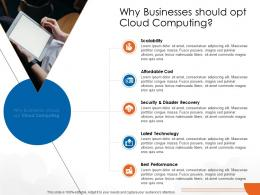 Why Businesses Should Opt Cloud Computing Cloud Computing Ppt Rules