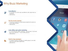 Why Buzz Marketing Wordm Of Mouth Ppt Powerpoint Presentation Infographic Template Format