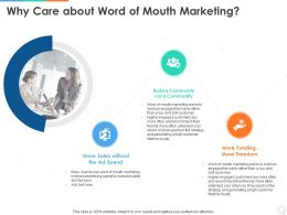 Why Care About Word Of Mouth Marketing Ppt Powerpoint Presentation Icon Inspiration