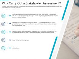 Why Carry Out A Stakeholder Assessment Analyzing Performing Stakeholder Assessment