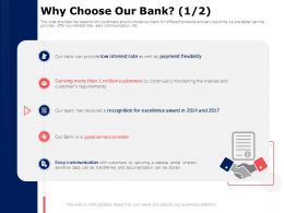 Why Choose Our Bank Service Provider Ppt Powerpoint Presentation Summary Graphics