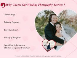 Why Choose Our Wedding Photography Services Ppt Powerpoint Presentation Aids