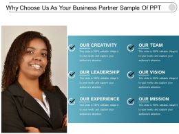 Why Choose Us As Your Business Partner Sample Of Ppt