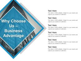 Why Choose Us Business Advantage Powerpoint Guide