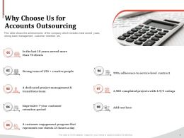 Why Choose Us For Accounts Outsourcing Ppt Powerpoint Gallery Slides