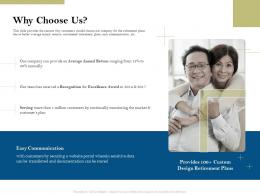 Why Choose Us Pension Plans Ppt Powerpoint Presentation Themes