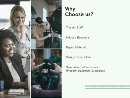 Why Choose Us Planning Communication Ppt Powerpoint Presentation Outline Display