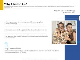 Why Choose Us Retirement Analysis Ppt Infographic Template Background Designs