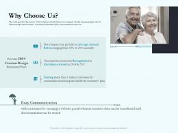 Why Choose Us Social Pension Ppt Formats
