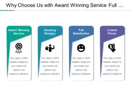 Why Choose Us With Award Winning Service Full Satisfaction And Lowest Prices