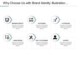 Why Choose Us With Brand Identity Illustration Unique Design And Easy To Customer