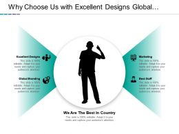 Why Choose Us With Excellent Designs Global Branding Marketing And Best Staff