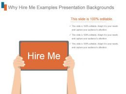 Why Hire Me Examples Presentation Backgrounds
