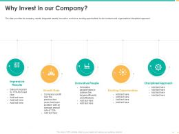 Why Invest In Our Company Innovative People Ppt Powerpoint Icon