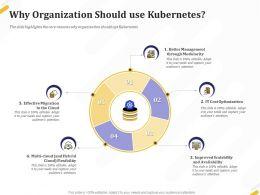 Why Organization Should Use Kubernetes Optimization Ppt Powerpoint Presentation Icon