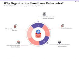 Why Organization Should Use Kubernetes Ppt Powerpoint Icon Infographics