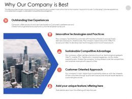 Why Our Company Is Best N558 Powerpoint Presentation Skills