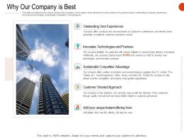Why Our Company Is Best Ppt Powerpoint Presentation Gallery Ideas