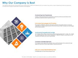 Why Our Company Is Best Technologies Ppt Powerpoint Presentation Ideas