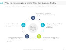 Why Outsourcing Is Important For The Business Today Strengthen Ppt Powerpoint Presentation Images